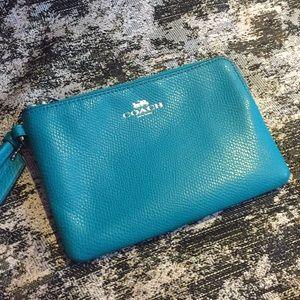 Women's Coach Leather Wristlet Wallet